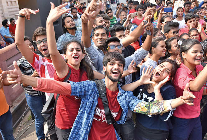 Excited youngsters enjoying the Happy Streets event on Sunday (BCCL/ Farhan Ahmad Siddiqui and Vishnu Jaiswal)