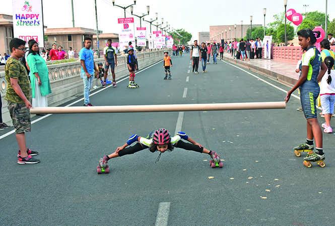 Anjali performed some jaw-dropping skating stunts (BCCL/ Farhan Ahmad Siddiqui and Vishnu Jaiswal)