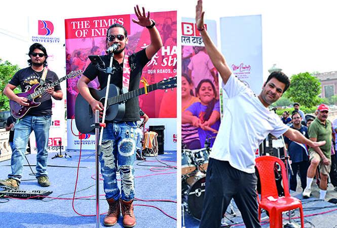 (L) Piyush and Shivam (R) RP Singh (BCCL/ Farhan Ahmad Siddiqui and Vishnu Jaiswal)