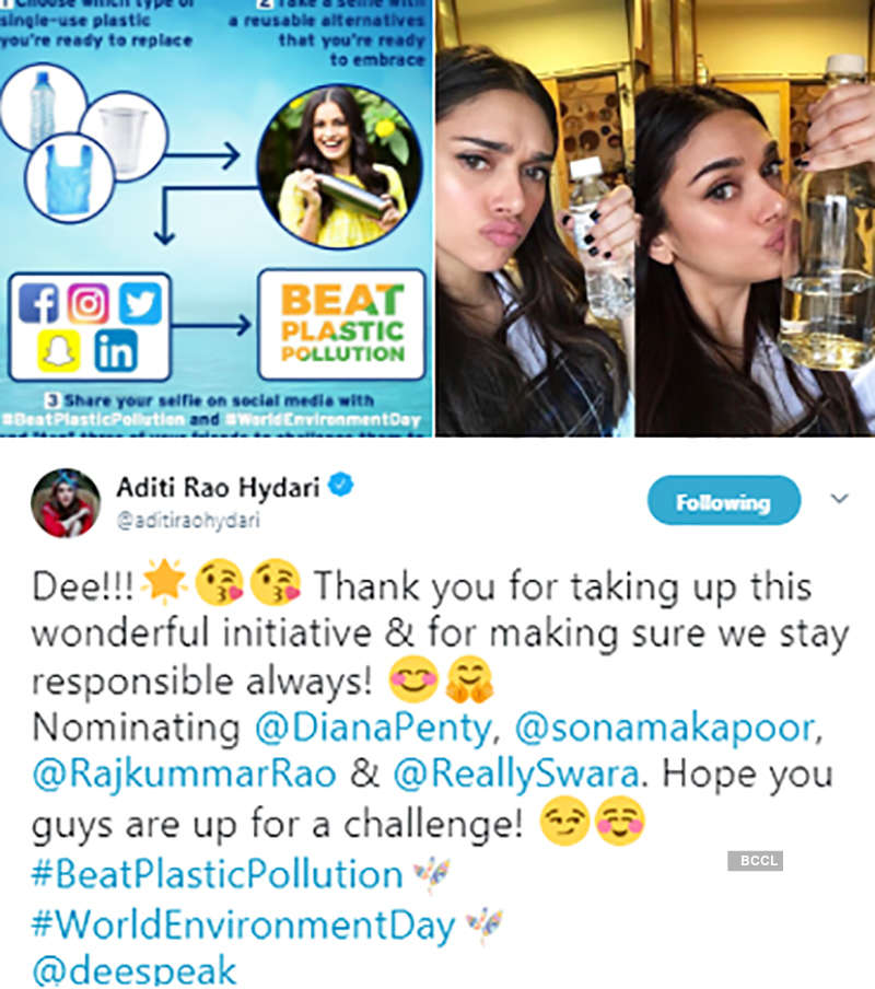 Bollywood celebrities & sportsmen take up 'Beat Plastic challenge' on World Environment Day