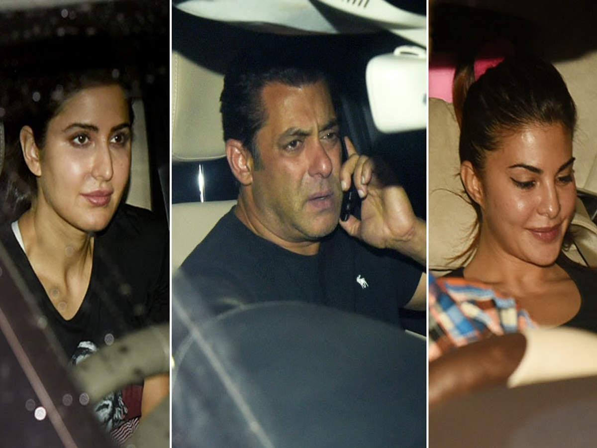 Salman Khan, Katrina Kaif, Jacqueline Fernandez snapped post rehearsals for Da-Bangg Tour