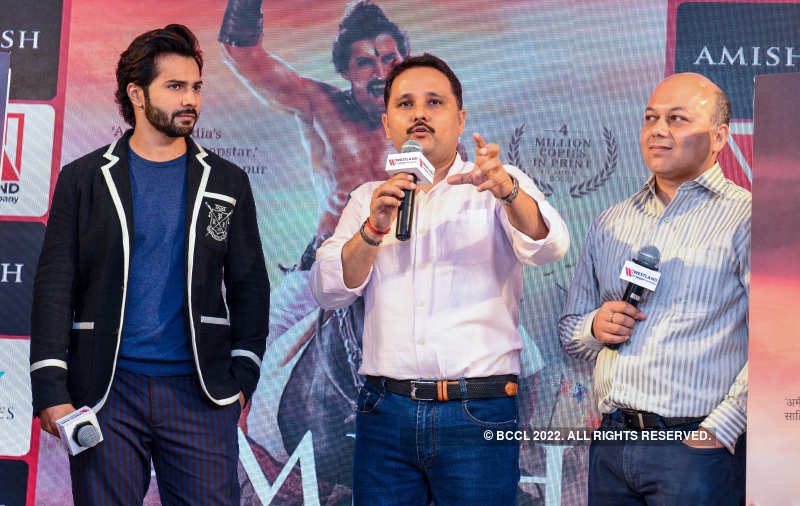 Varun Dhawan launches Amish Tripathi's book