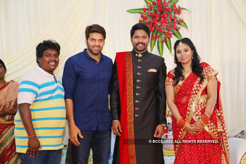 Actor Soundararaja and Tamanna's starry wedding reception