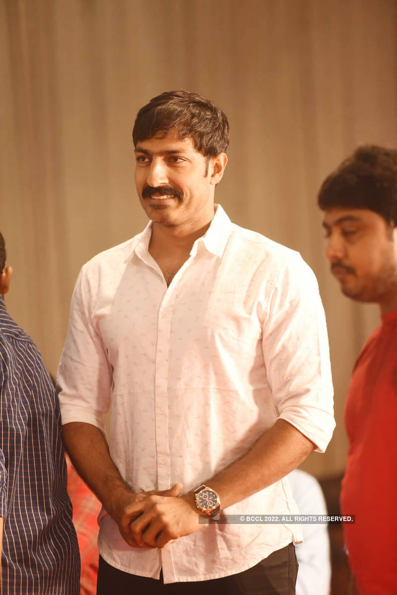 Actor Soundararaja and Tamanna's starry wedding reception