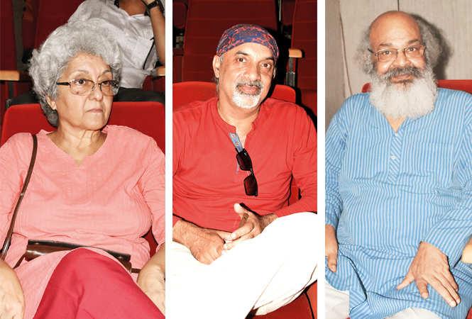(L-R) Kanchan Sinha, Mahendra and Suryamohan Kulshreshtha (BCCL/ Farhan Ahmad Siddiqui)
