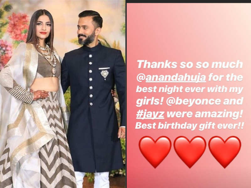 Sonam Kapoor Receives The Best Birthday Gift From Husband Anand Ahuja