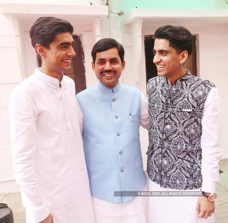 Shahnawaz Hussain's Eid party