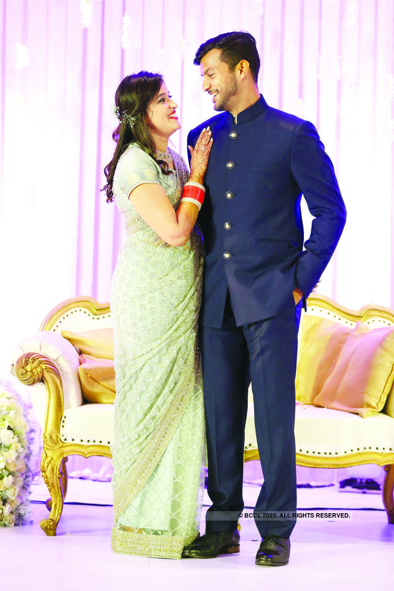 An all-star reception of Praveen Sood's daughter Aashita and cricketer Mayank Agarwal