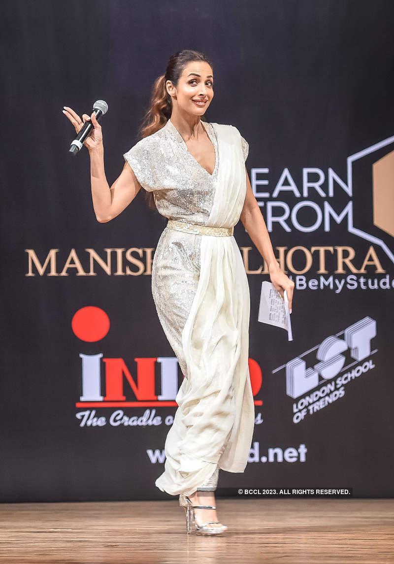 Malaika Arora and Neha Dhupia grace the launch of 'Learn from Manish Malhotra'