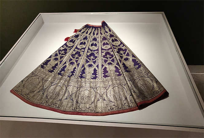Glimpses of the textile exhibition 'New Traditions: Influences & Inspirations in Indian Textiles, 1947 – 2017'  at JKK