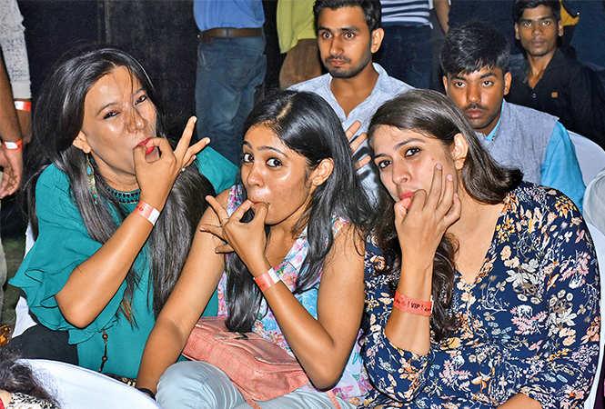 (L-R) Babita Chauhan, Mariam Susan and Pooja Upadhaya (BCCL/ Vishnu Jaiswal)
