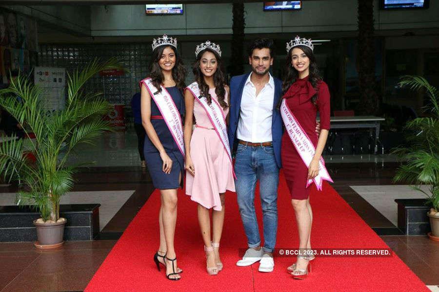 Miss India 2018 winners visit Wellingkar Institute of Management Studies