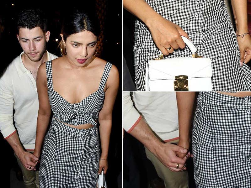 Priyanka Chopra And Nick Jonas Wearing Promise Rings Here