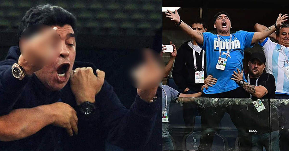 Viral photos of how Diego Maradona celebrated Argentina's victory in a do or die match