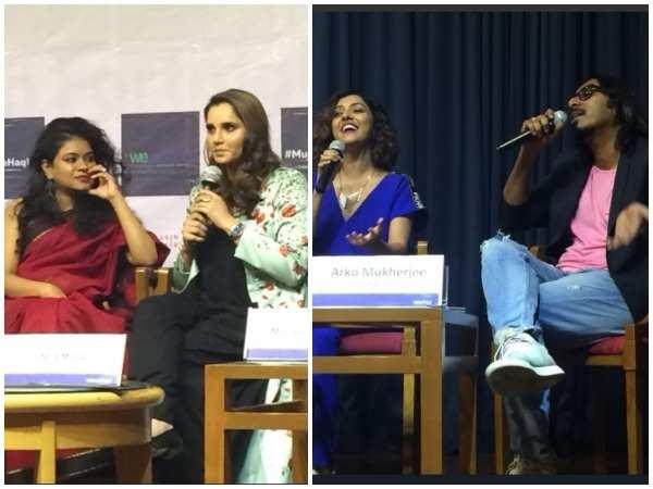 Sania Mirza in conversation; Neeti Mohan and Arko Mukherjee