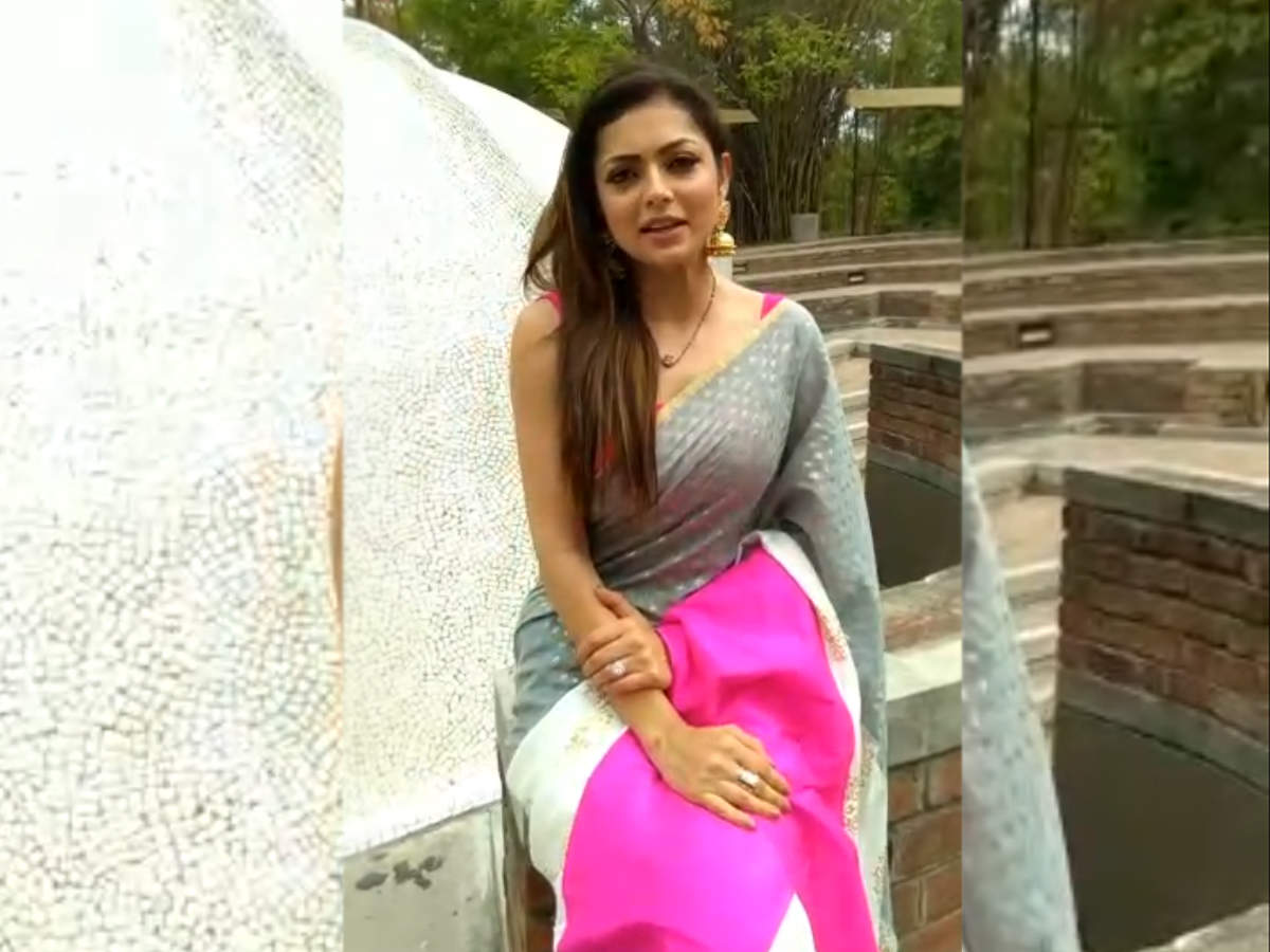 TV actress Drashti Dhami was in Ahmedabad for a promotional trip