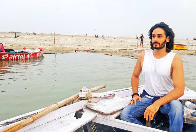 Siddharth Arora out for a boat ride at a ghat in Varanasi (BCCL)