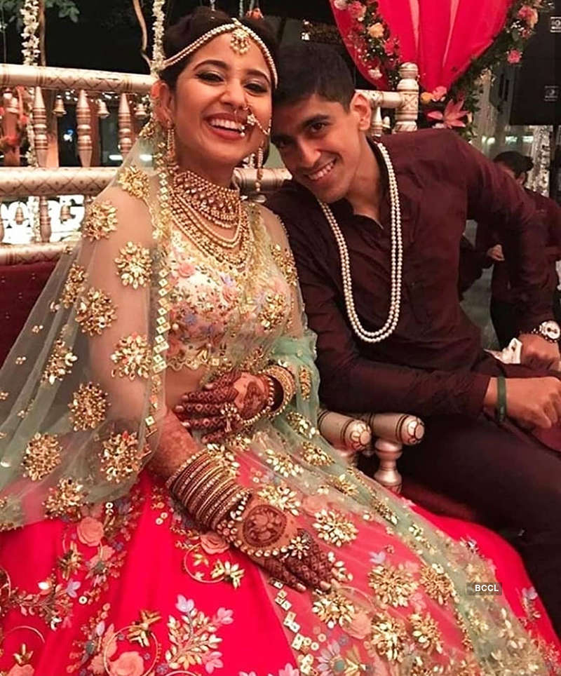 Inside pictures of actress Shweta Tripathi and rapper Chaitanya Sharma's wedding