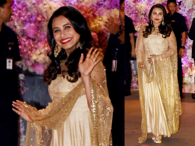 Rani Mukerji at Akash-Shloka's engagement