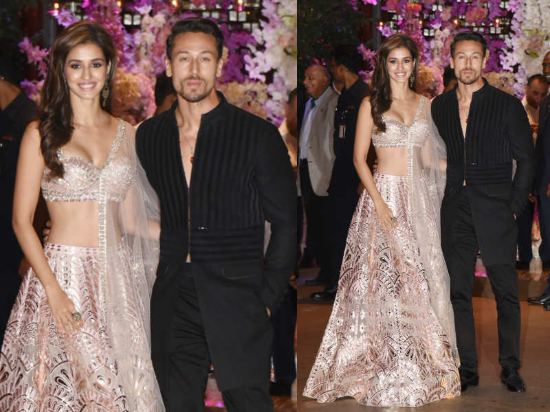Disha Patani and Tiger Shroff at Akash-Shloka's engagement