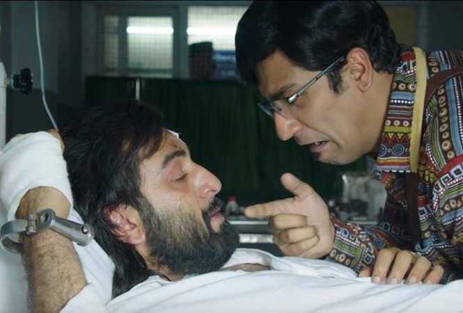 Ranbir Kapoor and Vicky Kaushal in a still from 'Sanju'