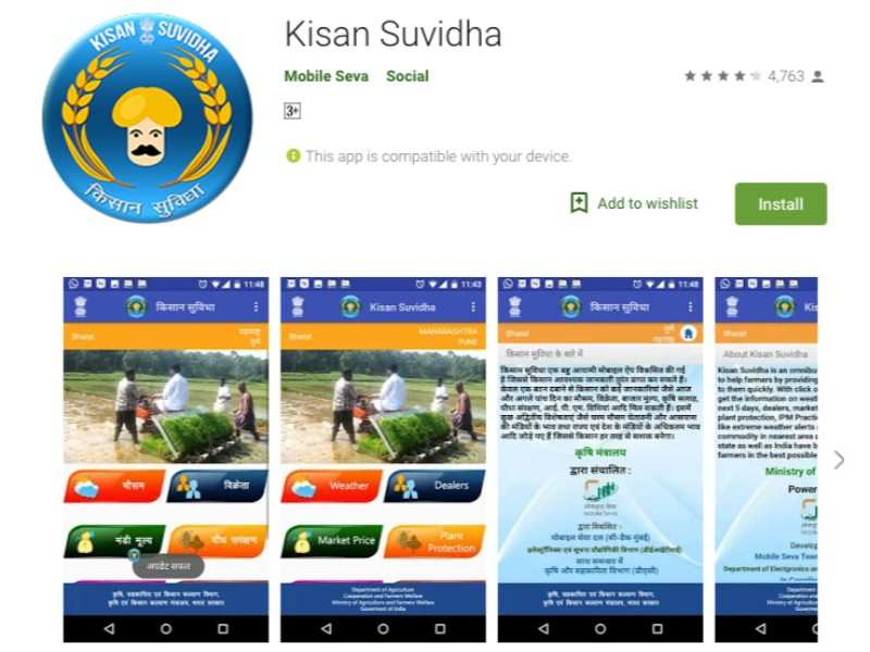 Kisan Suvidha app: Farmers can get updates on weather, market prices and more