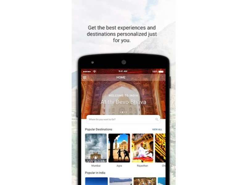 Incredible India app: Tourism app of government, it offers details of tour operators, registered service providers and more