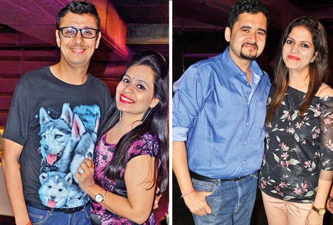(L) Ankit and Garima (R) Anupam and Shalu (BCCL/ IB Singh)