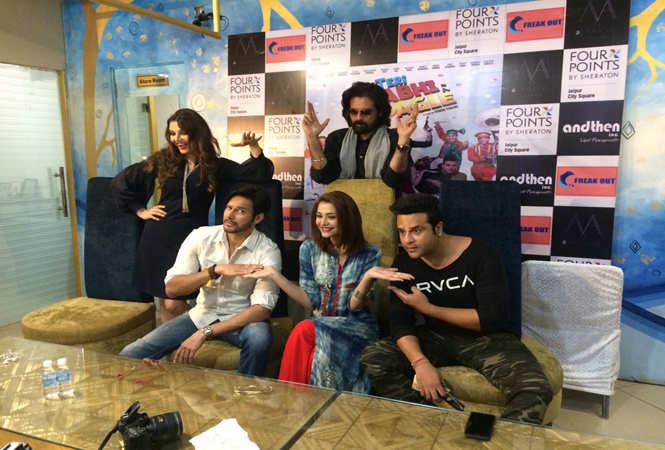 Actors Dipshikha, Mukul Dev, Nazia Hussain,  Krushna Abhishek and Rajniesh Duggal spotted in Jaipur