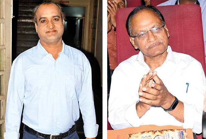 (L) Tariq Iqbal (R) BN Ojha (BCCL/ Farhan Ahmad Siddiqui)