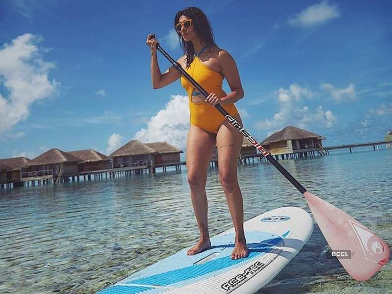 kishwer merchantt is slaying the beach look in her latest vacation