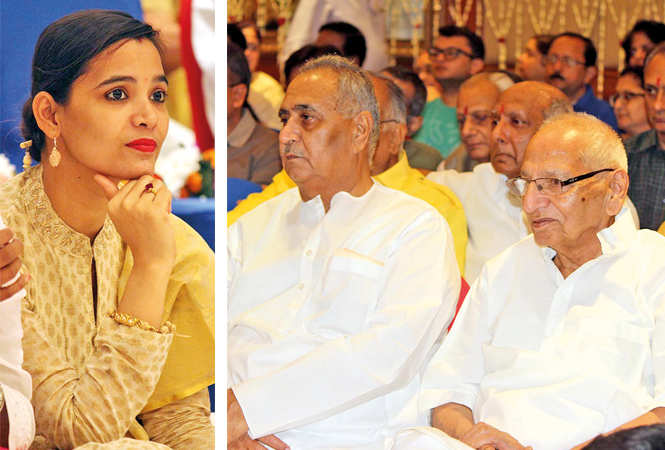 (L) Shristi Singh (R) Tara Chand and Vinod Kapoor (BCCL/ Arvind Kumar)