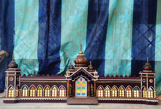 Model of illuminated Chaubees Dari made by Gopal Khanna (BCCL/ IB Singh)