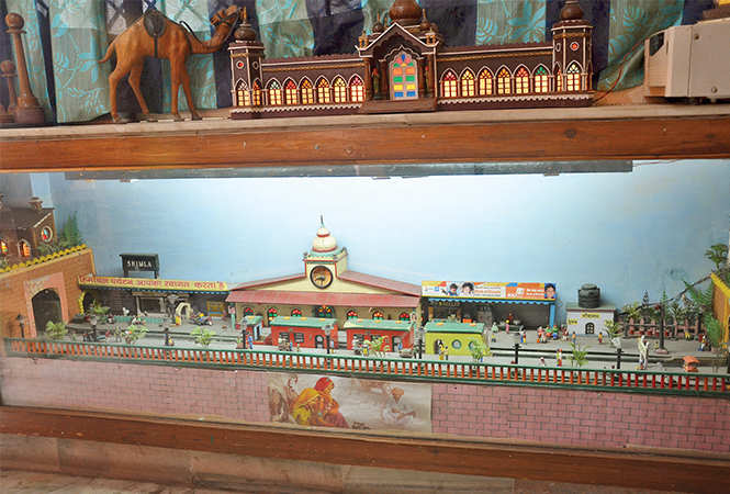 Model of Shimla railway station made by Gopal Khanna (BCCL/ IB Singh)