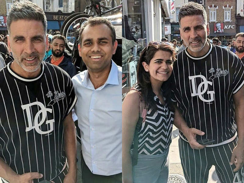Akshay Kumar sports salt-and-pepper look on the sets of 'Housefull 4' in London - Photos of Bollywood celebs from the film sets  | The Times of India