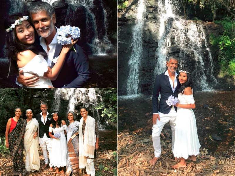 Barefoot Wedding   Milind Soman And Ankita Konwar S Barefoot Wedding Pictures Seem To