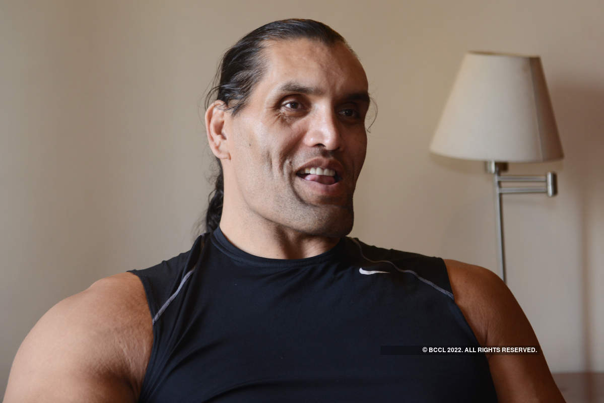 The Great Khali visits Chandigarh