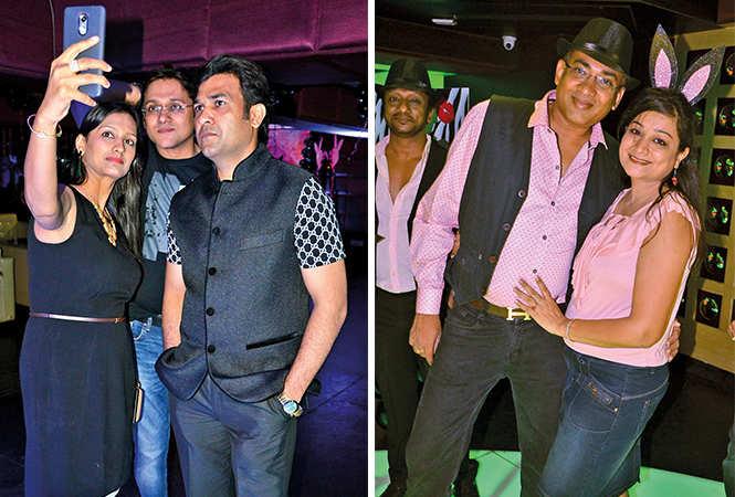 (L) Ankit, Megha and Prakash (R) Chanakya and Neha (BCCL/ IB Singh)