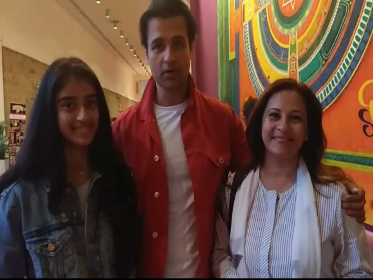 Actors Rohit Roy and Mansi Joshi Roy attend a show dedicated to Elvis Presley