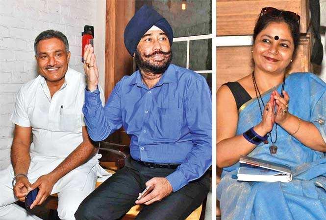 Anurag Mishra (L) and Inderpal Singh  and Dimple Trivedi (BCCL/ Vishnu Jaiswal)