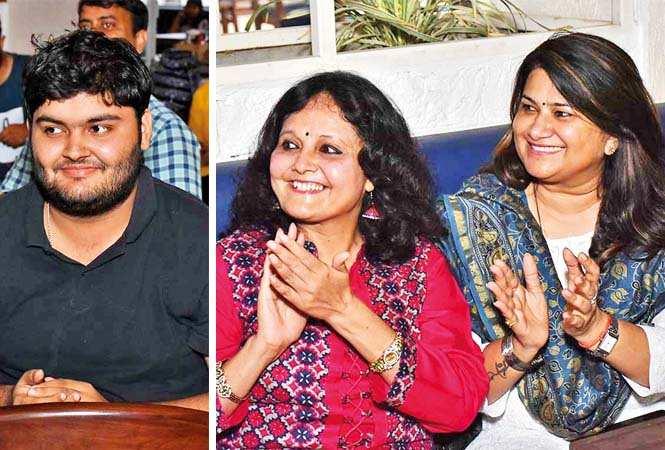 Aditya Pratap and Mini Bajpai (L) and Aparna Mishra  (BCCL/ Vishnu Jaiswal)