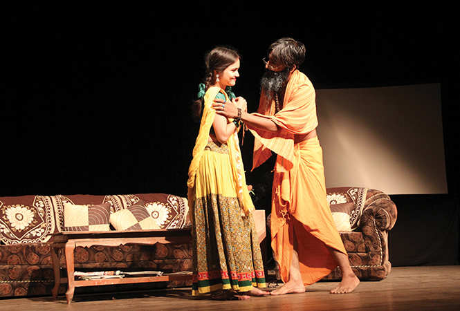 Tripti and Faisal in a scene from the play (BCCL/ Aditya Yadav)