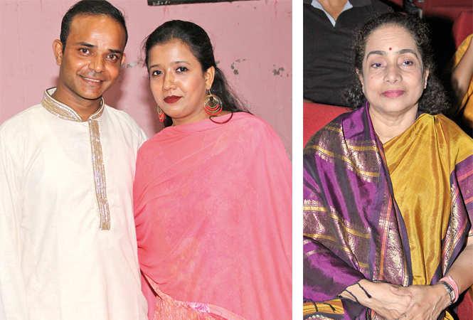 (L) Syed Shamshur and Amreen Rehman (R) Shruti Sadolikar (BCCL/ Aditya Yadav)