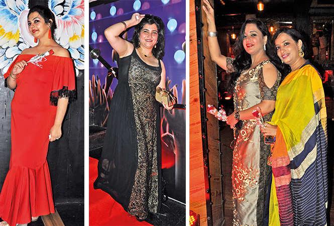 (L) Richa (C) Vinti Seth (R) Shilpi and Anjali (BCCL/ AS Rathor)