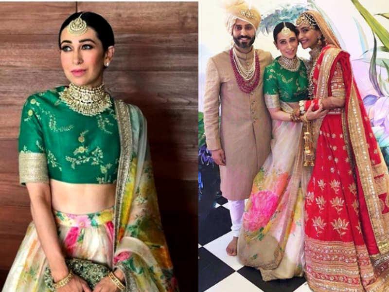 a8220d2db9a This bride wore the same lehenga as Karisma Kapoor wore