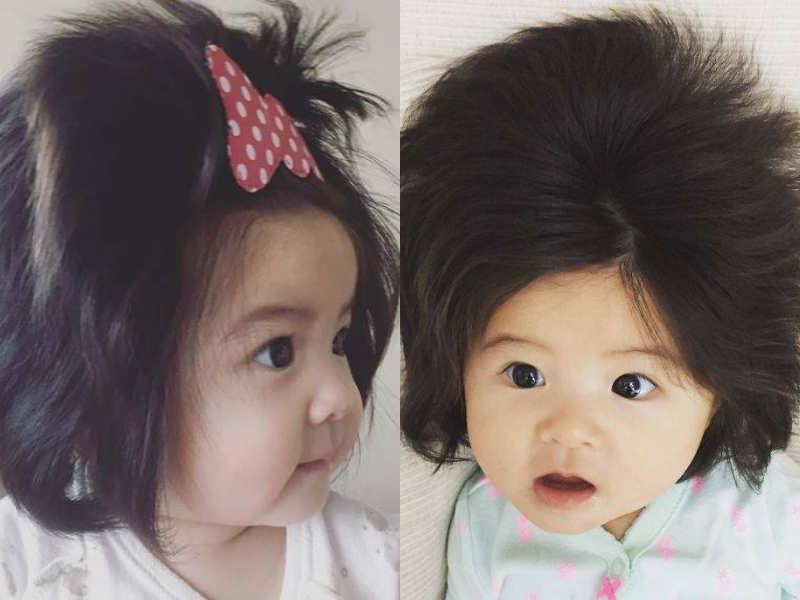 this japanese baby will give you some serious hair goals
