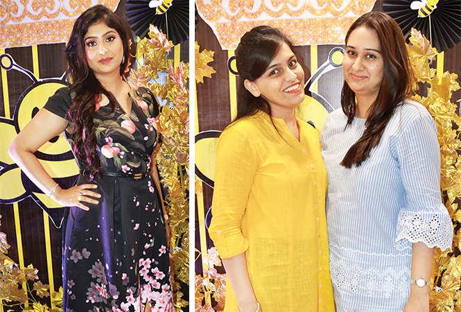 (L) Mahek (R) Megha and Ankita (BCCL/ IB Singh)