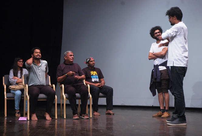 Participants performing a skit