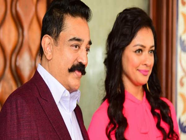 Kamal Haasan and Pooja Kumar promote their upcoming film 'Vishwaroop 2' in Mumbai