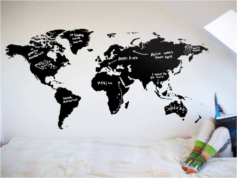 Friendship Day 2018 Gift Ideas for him and her - world map